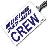 Boeing 747-400 Crew Tag